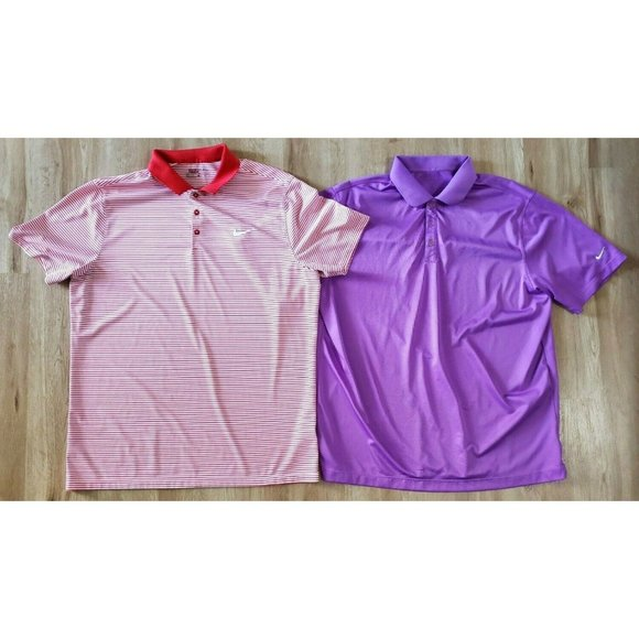 Nike Mens Lot of 2 Golf Polo Shirts Size XL